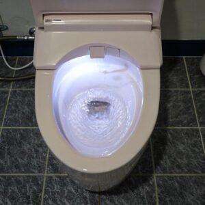 店舗 トイレの交換です。
